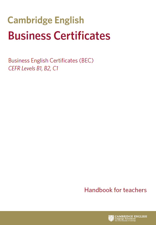 Offiziell Cambridge English B1 Business Preliminary Bec