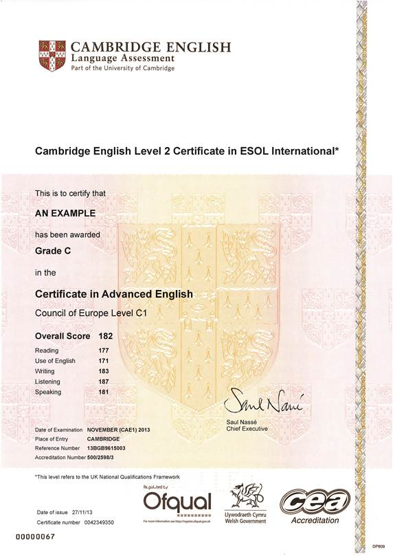 certificates | cambridge english exams | swiss exams