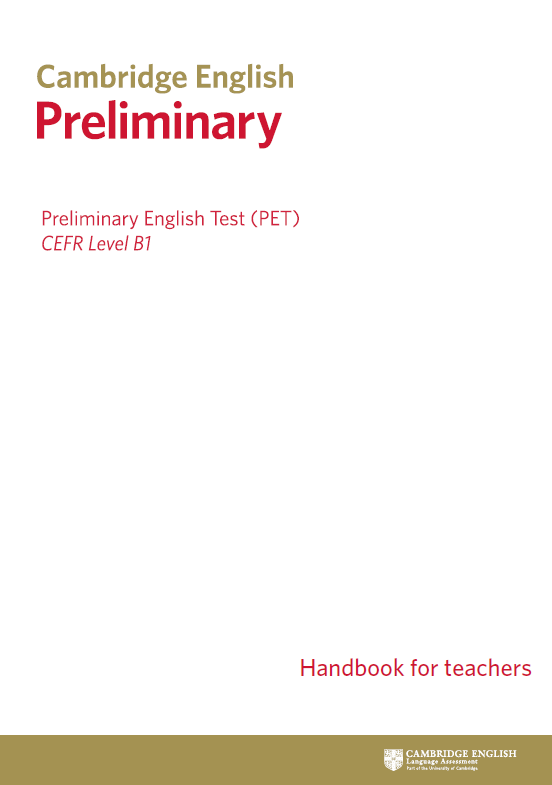 Official B1 Preliminary (PET) Cambridge English Certificate