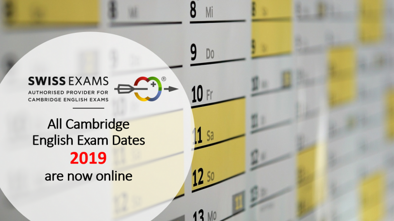 Cambridge English Exam Dates 2019