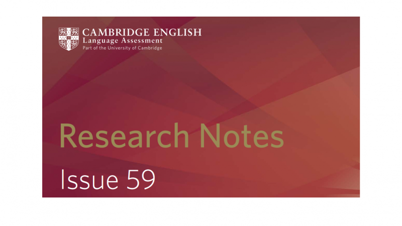 Research Notes Issue 59 Reporting Test Scores And The Cambridge English Scale